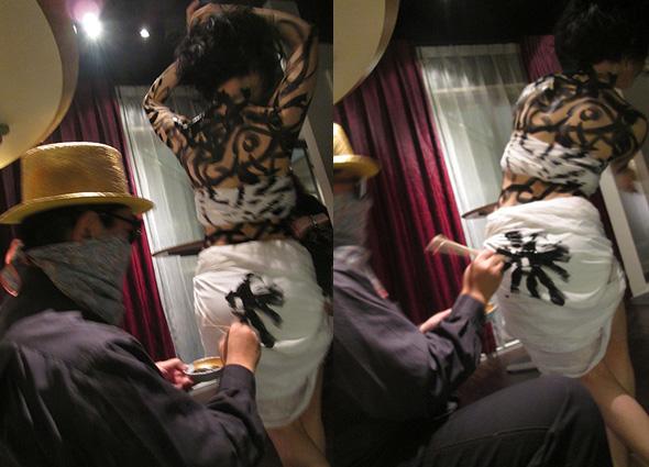 """in """"Lay bar"""" June 28th  Dancer: Yasmin Okuno DJ: DJ Soi Cowboy"""