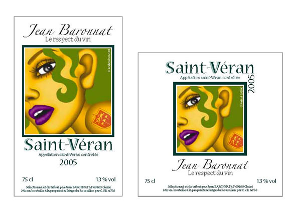 Wine Label Design 2005 for the Winery of South France for Their World Wide Market
